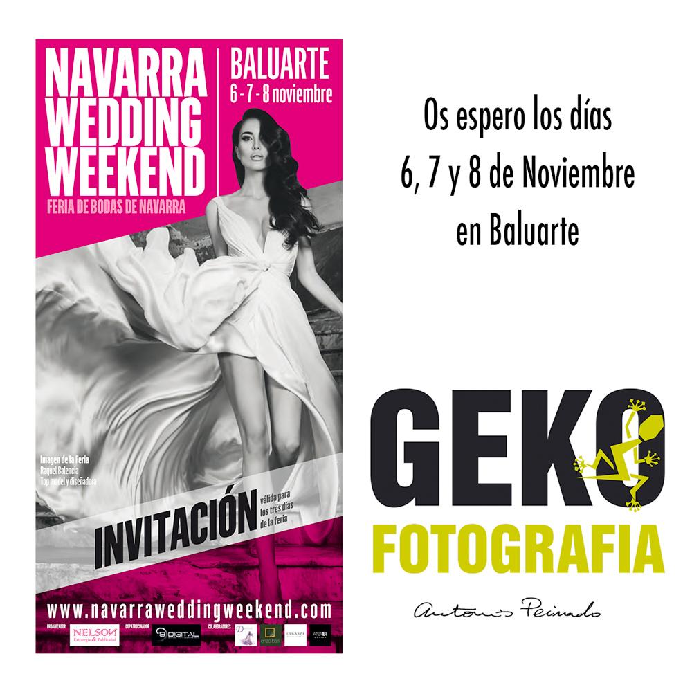 Si te casas el año que viene visítame en Navarra Wedding Weekend los días 6, 7 y 8 de Noviembre en Baluarte, Pamplona